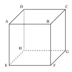 cube ABCDEFGH